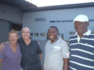 How delighted? Sampson with Thierry Schoonbaert, Jean-Claude and M. Pascal