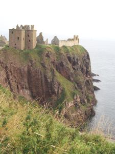 Medieval fortress Dunnottar Castle outside Stonehaven