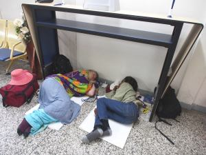 Sleepover at Accra airport