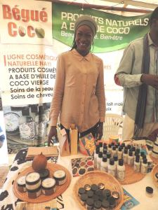 African made beauty products using indigenous ingredients like coconut oil and