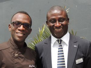 Our friends at Radisson Blu: Chief Steward Mbaye Penda Ndao and HR Manager Mamadou Diallo