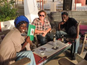 Sundowners with Justine, Simon and Maudo