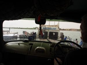 This is the only photo of us crossing the River Senegal; I was too wary of offending someone.